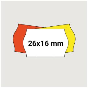 Prisetikett 26x16mm 7200st - Vit