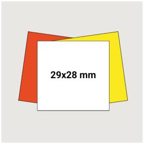 Prisetikett 29x28mm 3500st - Vit