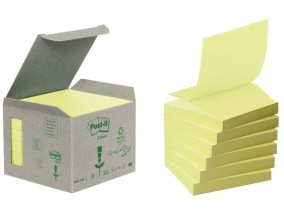 Notes POST-IT Z-block 76x76mm gul 6/fp -