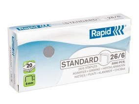 Häftklammer RAPID 26/6 standard 5000/FP - Häftklammer RAPID 26/6 standard 5000/FP