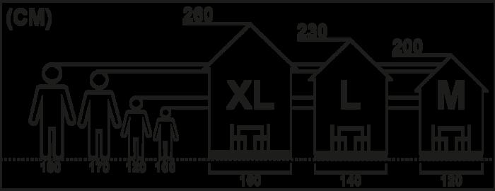 Wählen Sie die richtige Größe Ihres neuen Spielhauses