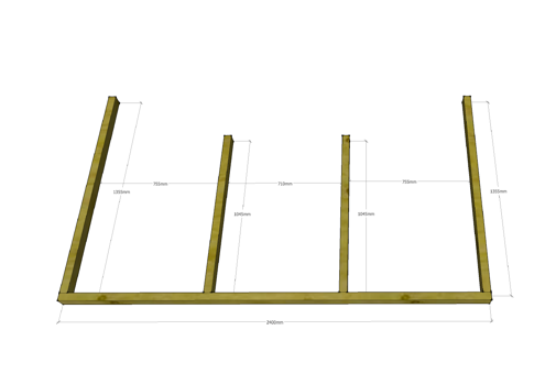 Montage des Deck
