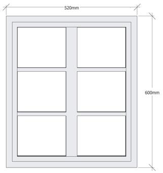 Fönster fast -