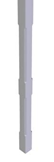 Räcke- och altanpelare med fasad kant -