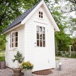 Dellas Garden Bexhill 3 Vit med fönster och svart tak-3