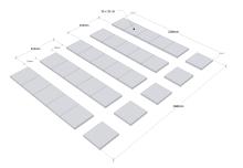 Placering trädgårdsplattor XL