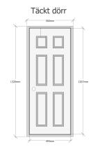 Täckt dörr -