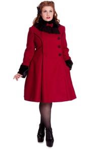 Angelina Coat - Röd, Stl XS