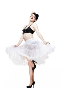 Hellbunny Petticoat, underkjol 12st olika färger - Vit, lång XS-M