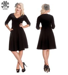 Rona dress - Rona dress svart/vit,  stl XS