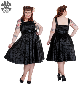 Tatto flock dress - Tatto svart  stl XS