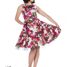 Audrey 50`s dream Floral swing dress