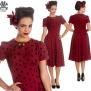 Madden dress, finns flera färger - burgundy/svart stl 4XL
