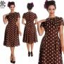 Madden dress, finns flera färger - brun/vit stl 4XL