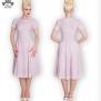 Madden dress, finns flera färger - rosa/vit stl 3XL
