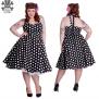 Mariam dress 6 olika färger - svart/vit  stl L