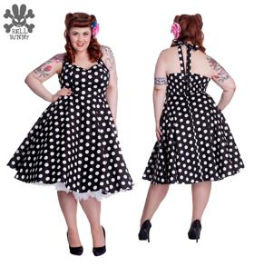 Mariam dress 6 olika färger - svart/vit  stl XS