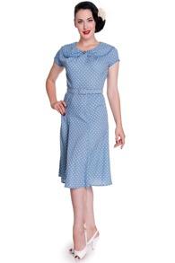 Prickig  dress - blå stl S