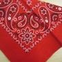 Bandanas  mönstrade - mönstrad röd