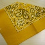 Bandanas  mönstrade - mönstrad gul