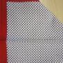 Bandanas  mönstrade - mönstrad små svarta prickar, röd kant
