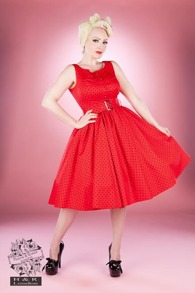 Klänning från H&R - Röd/svart stl XS