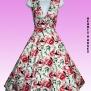 White Rose Floral Sleeveless dress - white rose H&R stl L