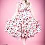 White Rose Floral Sleeveless dress