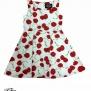 Barnklänning Bombshell Cherry 2färger - Barn klänning vit körsbär stl 11-12 år