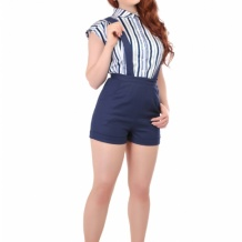 Amy short navyblå