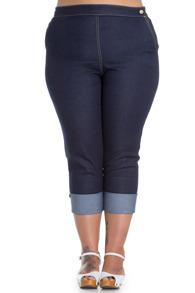 Ronnie capri jeans byxa - Ronnie 3/4 byxa stl S