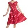 Nicky dress - Nicky dress röd stl XL