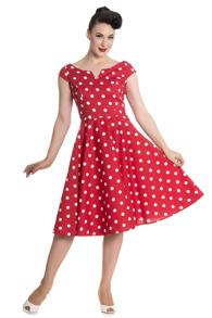 Nicky dress - Nicky dress röd stl XS