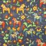Leksand mini  dalahäst tyg 9 olika färger - Leksand mini blå 1m