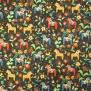 Leksand mini  dalahäst tyg 9 olika färger - Leksand mini svart 1m