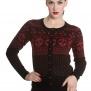 Clara cardigan 2 olika färger - Clara cardigan svart/röd stl L