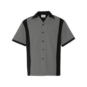 Bowling shirt 5 olika färger - Bowling skjorta, grå, stl S