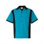 Bowling shirt 5 olika färger - Bowling skjorta, turkos, stl 2XL