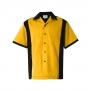 Bowling shirt 5 olika färger - Bowling skjorta, gul, stl XL