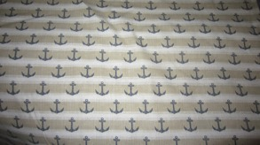 Sailor tyg 2st - Saliortyg nr1 beige/vit, 1m, (hel tygbit 2m)