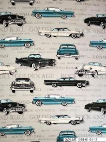 Cadillac, Chrysler tyg - Cadillac,Chrysler, Grå,  1m