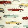 Cadillac, Chrysler  tyg  2 olika bottenfärger - Cadillac, chrysler, beige,  1m