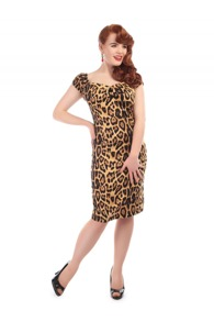 Dolores, Pennklänning, leopard - Dolores penn klänning, leopard stl XXS