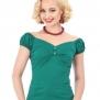 Dolores top, enfärgade, 8 olika färger - grön stl XL