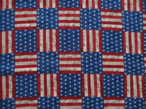USA flaggan  tyg - USAflaggan fyrkanter   1m