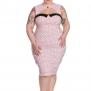 Miley Pencil dress, finns i två färger - Miley rosa 4XL