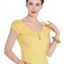Melissa top,  7 olika färger - Melissa gul, stl 3XL