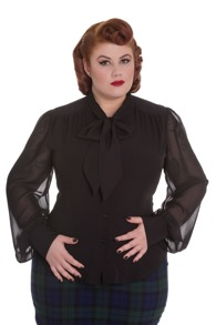 Kathleen blouse   2 färger - kathleen svart stl 2XL