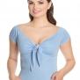 Bardot top, 4 olika färger - Bardot ljblå stl 4XL