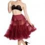 Hellbunny Petticoat, underkjol 12st olika färger - burgundy lång, L-2XL